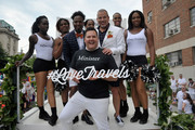 George Carrancho, Sean Franklin, Ross Mathews and The Prancing Elites at the D.C. Capital Pride Parade For Marriott International's #LoveTravels Campaign on June 13, 2015 in Washington, DC.