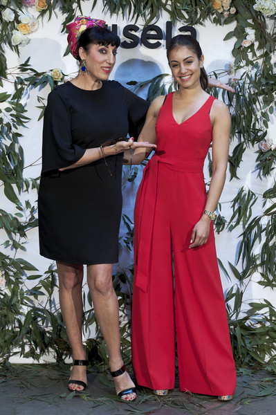 Rossy de Palma And Hiba Habouk Present 'Comment tu t'appelles' [comment,cinema,clothing,dress,fashion,formal wear,lady,fashion model,pink,gown,shoulder,event,rossy de palma,hiba habouk present,actresses,hiba abouk,r,spanish,sala equis,l]