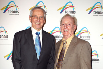Roy Emerson Rod Laver Off Court At The 2013 Australian Open