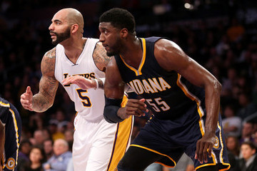 Roy Hibbert Indiana Pacers v Los Angeles Lakers