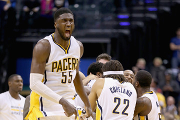 Roy Hibbert Charlotte Hornets v Indiana Pacers