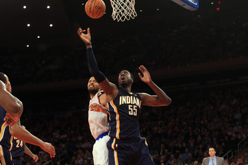 Roy Hibbert Indiana Pacers v New York Knicks