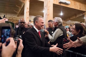 Roy Moore GOP Senate Candidate Judge Roy Moore Holds Rally on Eve of Election