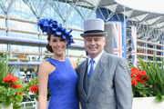 Presenters Isabel Webster and Eamonn Holmes attend day one of Royal Ascot at Ascot Racecourse on June 17, 2014 in Ascot, England.