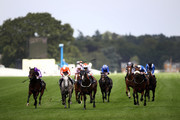 Frankie Dettori riding Advertise leads the field on his way to winning The Commonwealth Cup on day four of Royal Ascot at Ascot Racecourse on June 21, 2019 in Ascot, England.