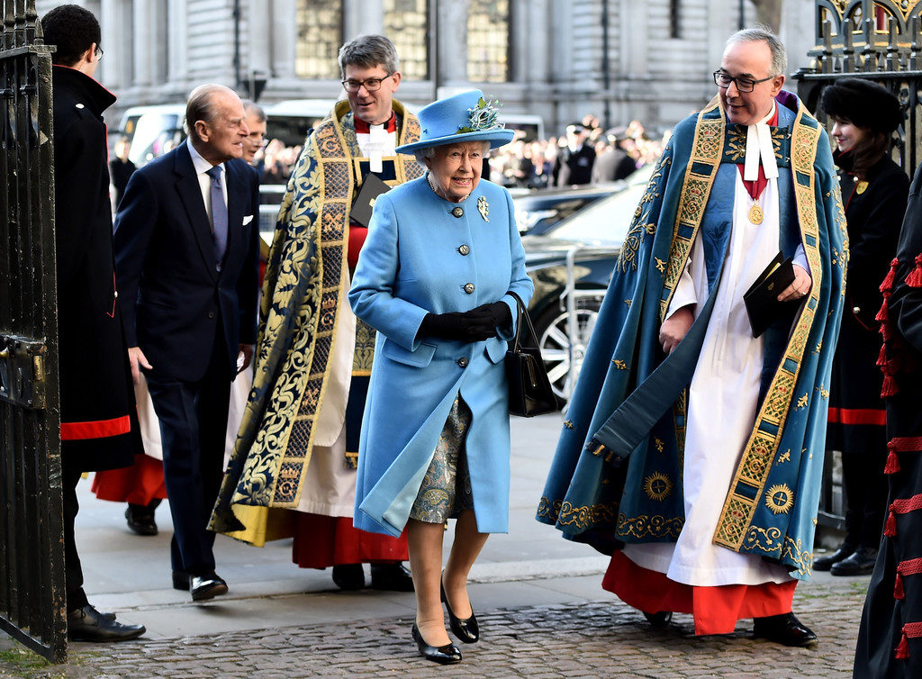 the royal family attends the commonwealth observance day