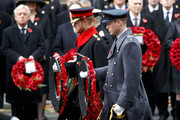 Britain's Prince Harry (L), Britain's Prince William, Duke of Cambridge, (R) and Britain's Prince Andrew, Duke of York lay a wreath during the Remembrance Sunday ceremony at the Cenotaph on Whitehall in central London, on November 12, 2017..Services are held annually across Commonwealth countries during Remembrance Day to commemorate servicemen and women who have fallen in the line of duty since World War I. / AFP PHOTO / Tolga AKMEN