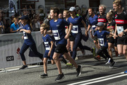 The Royal children with Prince Christian and Princess Isabella in the lead followed by Princess Josephine and Prince Vincent and their mother Crown Prince Mary of Denmark starts out on the 1 mile (1.6 KM)  long tour, Royal Run, on the occasion of the 50th birthday of Crown Prince Frederik on May 21, 2018 in Copenhagen, Denmark. The Royal Run takes place in the cities Aalborg, Aarhus, Esbjerg, Odense and Copenhagen and more than 70.000 people are expected to participate during the day long sports event. The Crown Prince himself will run in all five cities.The last city of the day is Copenhagen, where he will run together with some 40.000 people.