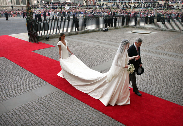 Pippa+Middleton in Royal Wedding - Wedding Guests And Party Make Their Way To Westminster Abbey