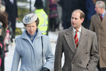Prince Edward Royals Attend Christmas Day Service At Sandringham