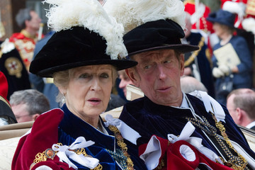Lady Ogilvy Royals Attend The Order Of The Garter Service
