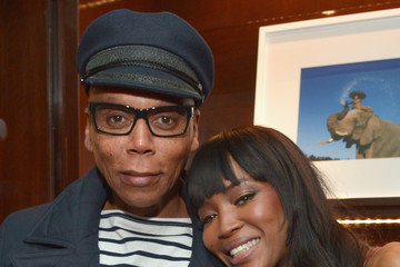 RuPaul Charles Naomi Campbell and Benedikt Taschen Celebrate The Los Angeles Launch of 'Naomi' at Taschen Beverly Hills