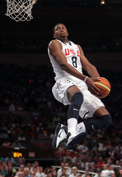 USA Basketball v France. In This Photo: Rudy Gay