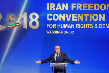 Rudy Giuliani Trump's Newly Appointed Lawyer Rudy Giuliani Speaks At Conference On Iran