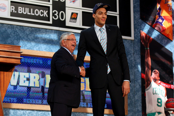 NBA Draft Held in NYC [photo,suit,formal wear,event,tuxedo,official,white-collar worker,rudy gobert,david stern,r,user,nyc,france,nba,nba draft,round]