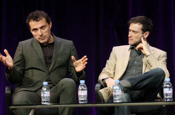 Photo of Ed Stoppard & his friend  Rufus Sewell