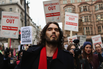 Russell Brand New Era Estate Residents Protest