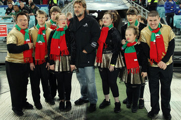 Russell Crowe Rabbitohs v Bulldogs
