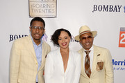 Jojo Brim, Elle Varner and Kevin Liles attend as Russell Simmons' Rush Philanthropic Arts Foundation Celebrates 20th Anniversary At Annual Art For Life Benefit at Fairview Farms on July 18, 2015 in Water Mill, New York.