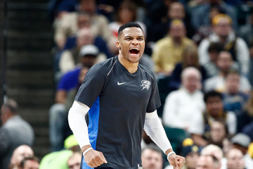 Russell Westbrook Oklahoma City Thunder v Indiana Pacers