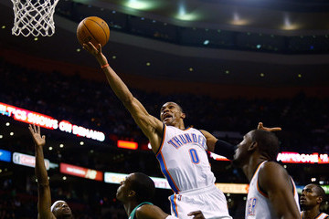 Russell Westbrook Oklahoma City Thunder v Boston Celtics