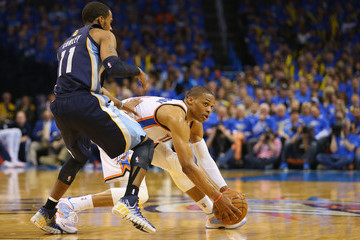 Russell Westbrook Memphis Grizzlies v Oklahoma City Thunder - Game One
