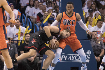 Russell Westbrook Houston Rockets v Oklahoma City Thunder - Game Four