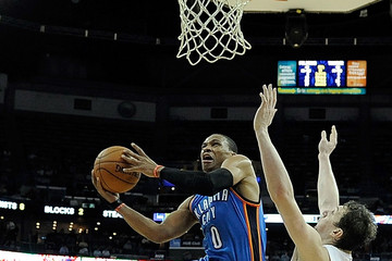 Russell Westbrook Oklahoma City Thunder v New Orleans Pelicans
