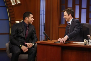 Russell Wilson 'Late Night with Seth Meyers' Tapes in NYC