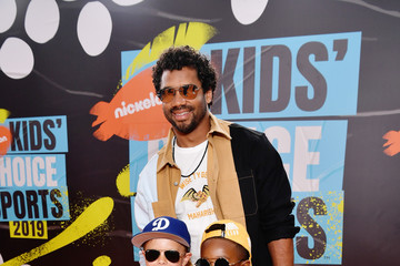 Russell Wilson Nickelodeon Kids' Choice Sports 2019 - Red Carpet