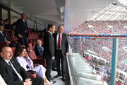 President Vladimir Putin and Prime Minister Dmitry Medvedev attend the opening ceremony prior to the 2018 FIFA World Cup Russia Group A match between Russia and Saudi Arabia at Luzhniki Stadium on June 14, 2018 in Moscow, Russia.