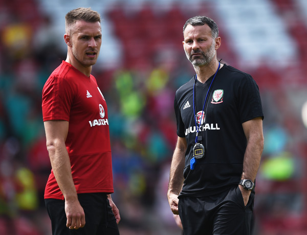 Image result for Ryan Giggs with Aaron Ramsey