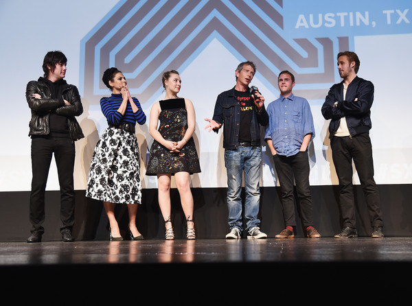"""""""Lost River"""" - 2015 SXSW Music, Film + Interactive Festival [social group,event,fashion,youth,performance,design,fashion design,team,competition,stage,johnny jewel,ryan gosling,actors,ben mendelsohn,part,l-r,lost river,film interactive festival,sxsw music,q a]"""