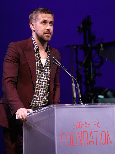 SAG-AFTRA Foundation's 3rd Annual Patron of the Artists Awards [sag-aftra foundations 3rd annual patron of the artists awards,speech,music artist,performance,public speaking,orator,event,singer,singing,spokesperson,performing arts,beverly hills,california,wallis annenberg center for the performing arts,ryan gosling]