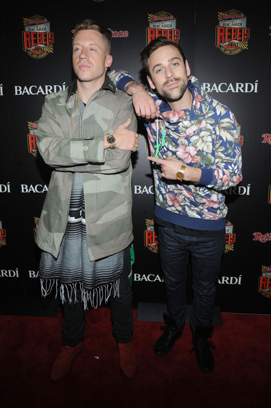 Ryan Lewis (L-R) Macklemore and  Ryan Lewis attend Rolling Stone hosts Bacardi Rebels at Roseland Ballroom on May 20, 2013 in New York City.