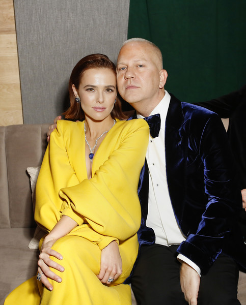 2020 Hulu Golden Globe Awards After Party [yellow,suit,formal wear,fashion,fashion design,event,outerwear,fun,tuxedo,smile,zoey deutch,ryan murphy,l-r,beverly hills,california,the beverly hilton hotel,hulu golden globe awards,party,celebration,walt disney company post-golden globe awards show,zoey deutch,ryan murphy,los angeles,golden globe awards,actor,party,oscar party]
