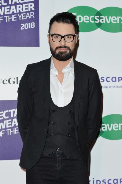 'Spectacle Wearer Of The Year' - Arrivals [spectacle wearer of the year,eyewear,facial hair,beard,suit,moustache,glasses,outerwear,white-collar worker,event,premiere,arrivals,rylan clark,london,united kingdom,northumberland avenue,specsavers spectacle wearer of the year]