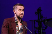 Ryan Gosling speaks onstage at the SAG-AFTRA Foundation's 3rd Annual Patron of the Artists Awards at the Wallis Annenberg Center for the Performing Arts on November 8, 2018 in Beverly Hills, California.