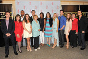 (L-R) Actors Greg Rikaart, Kate Linder, Redaric Williams, Melissa Claire Egan, Peter Bergman, co-creator Lee Phillips Bell, moderator Pat Harvey, producer Angelica McDaniel, actors Sharon Case, Michael Muhney, Tracey E. Bregman, SAG's Ilyanne Moden Kichaven and Daniel Goddard attend the 40 years of 'The Young and The Restless' celebration presented by SAG-AFTRA at SAG-AFTRA on June 4, 2013 in Los Angeles, California.