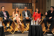 (L-R) Actors Greg Rikaart, Melissa Claire Egan, Redaric Williams, Kate Linder and Daniel Goddard attend the 40 years of 'The Young and The Restless' celebration presented by SAG-AFTRA at SAG-AFTRA on June 4, 2013 in Los Angeles, California.