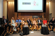 (L-R) Actors Peter Bergman, Sharon Case, Michael Muhney, Tarcey E. Bregman  Greg Rikaart, Melissa Claire Egan, Redaric Williams, Kate Linder and Daniel Goddard attend the 40 years of 'The Young and The Restless' celebration presented by SAG-AFTRA at SAG-AFTRA on June 4, 2013 in Los Angeles, California.