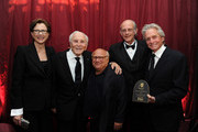 (L-R) Actress Annette Bening, actor Kirk Douglas, actor Danny Devito, actor Christopher Lloyd and actor Michael Douglas attend SBIFF's 2011 Kirk Douglas Award for Excellence In Film honoring Michael Douglas at the Biltmore Four Seasons on October 13, 2011 in Santa Barbara, California.