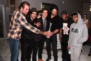 (L-R) Adam Rodriguez, Kevin Nash, Matt Bomer, Joe Manganiello, Stephen Boss and Donald Glover pose for a photo backstage during Matt Bomer Spotlight Award Tribute at Trustees Theater on Day Two of the 17th Annual Savannah Film Festival presented by SCAD on October 26, 2014 in Savannah, Georgia.