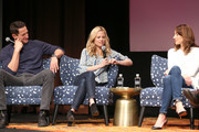 """Actor Sasha Roiz, Actress Claire Coffee, and Actress Bree Turner speak at the """"Grimm"""" event during aTVfest 2016 presented by SCAD on February 7, 2016 in Atlanta, Georgia."""
