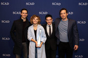"""Spotlight Cast Award Recipients for """"Gotham"""" actors (L-R) Cory Michael Smith, Camren Bicondova, Robin Lord Taylor and  Nathan Darrow pose with their award during Spotlight Cast Award presentations during aTVfest 2016 presented by SCAD on February 5, 2016 in Atlanta, Georgia."""
