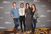 """Actor Zach Appelman, Actor Lyndie Greenwood, Actor Nikki Reed, and Actor Jessica Camacho attend the """"Sleepy Hollow"""" event during aTVfest  2016 presented by SCAD on February 6, 2016 in Atlanta, Georgia."""