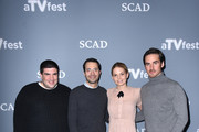"(L-R) Co-creators and executive producers Adam Horowitz and Edward Kitsis and actors Jennifer Morrison and Colin O'Donoghue attend  ""Once Upon A Time"" press junket on Day One of aTVfest 2017 presented by SCAD on February 2, 2017 in Atlanta, Georgia."