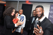 """Actors (L-R) .Aisha Hinds, Amirah Vann, Jurnee Smollett-Bell and Aldis Hodge and Actor, director, chair of film and television department, SCAD, D.W. Moffett (2nd R) attend a press junket for """"Underground"""" on Day One of aTVfest 2017 presented by SCAD on February 2, 2017 in Atlanta, Georgia."""