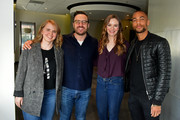 (L-R) Samantha Highfill, David Rapaport, Danielle Panabaker, Kendrick Sampson attend a screening and Q&A on Day 3 of the SCAD aTVfest 2018 on February 3, 2018 in Atlanta, Georgia.