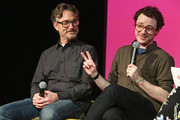 Executive producer Barry Josephson (L) and actor Griffin Newman speak during a screening and Q&A for 'The Tick' on Day 2 of the SCAD aTVfest 2018 on February 2, 2018 in Atlanta, Georgia.